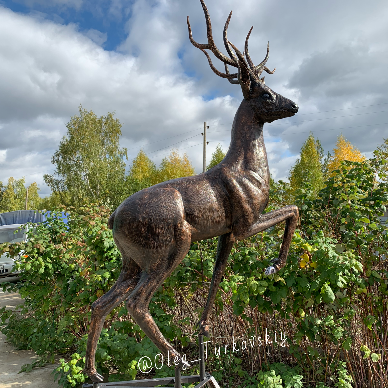 """Deer sculpture. From a tale Bazhov """"Silver Hoof"""""""