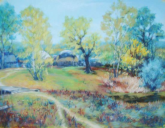 Пейзажи пастелью