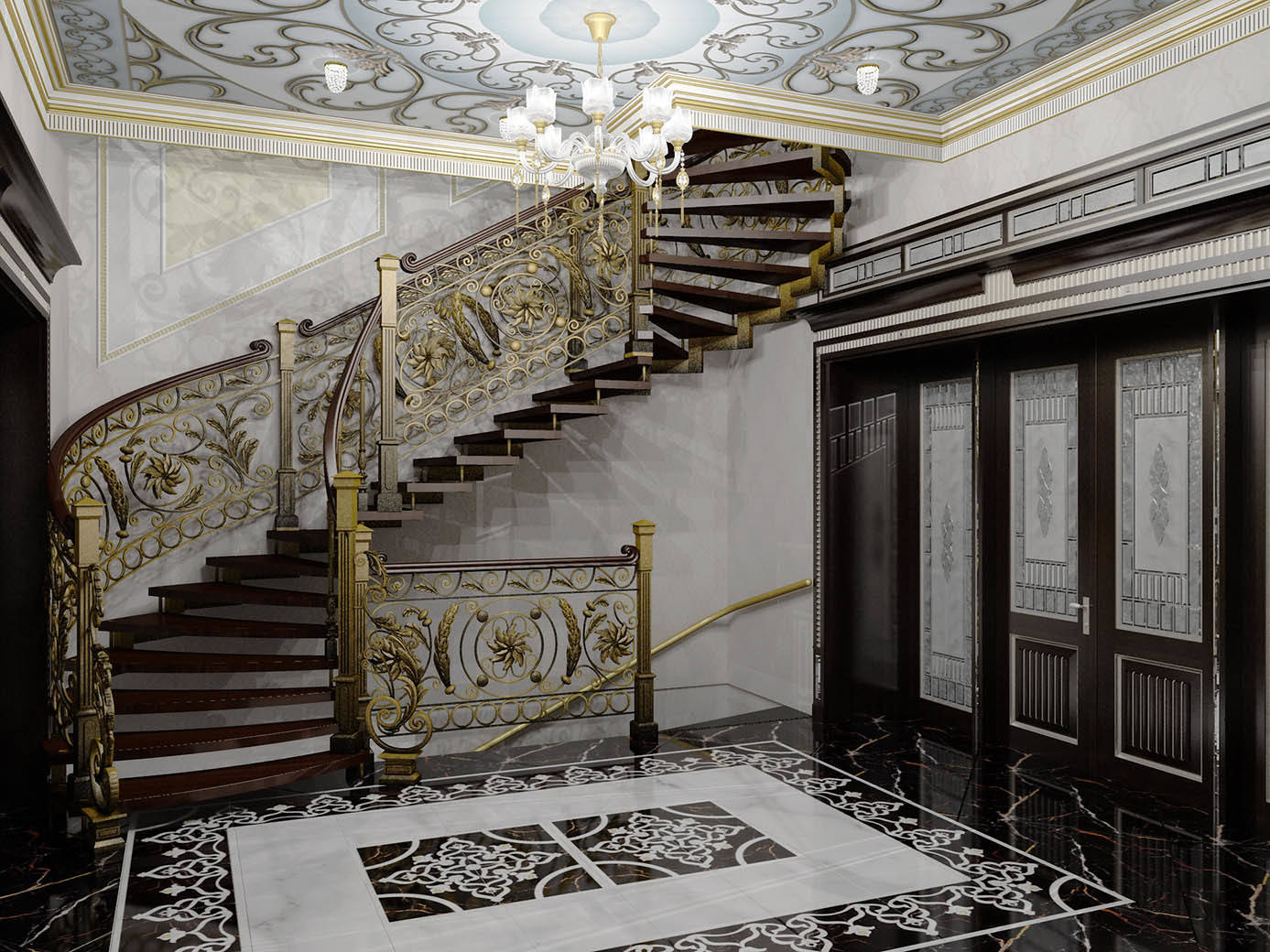 Парадная с лестницей