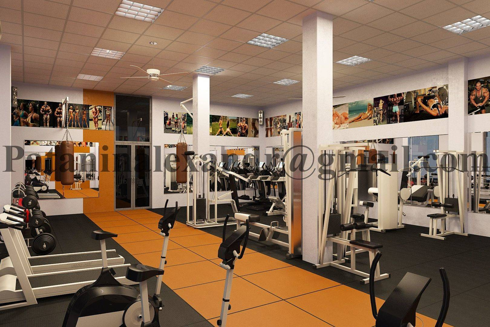 Small gym. Тренажерный зал.