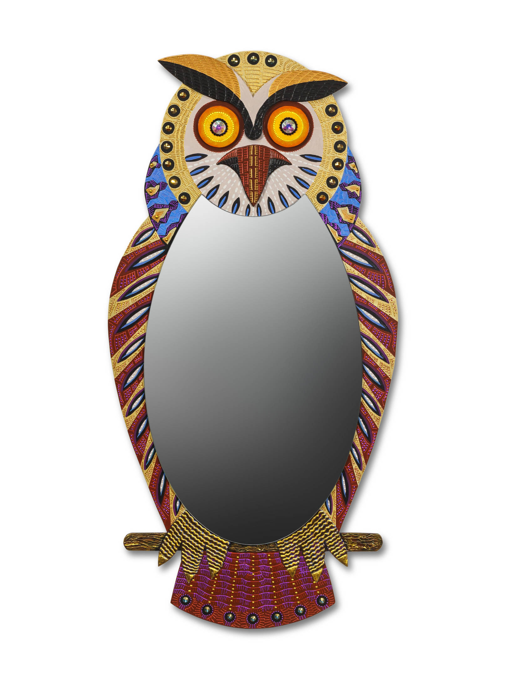 """зеркало «Сова» Размер 1200 х 600 мм. Смешанная техника Если выключить освещение, то глаза совы  будут некоторое время светиться.  mirror """"Owl""""  Size 1200 x 600 mm.  Mixed media. If you turn off the lights, then the eyes of an owl will glow for a while."""