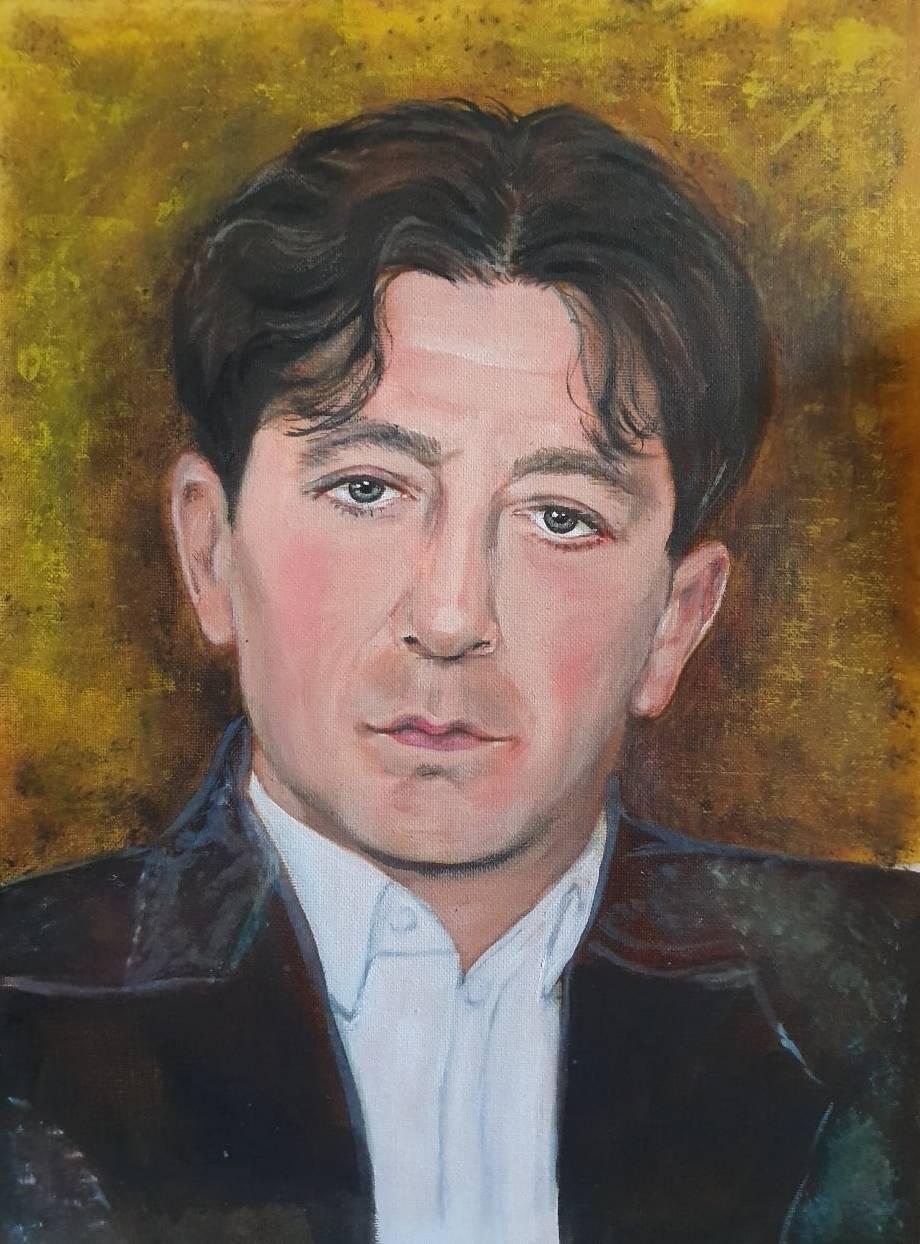 Портрет Григория Лепса.  Холст, масло, 30х40, 2019.