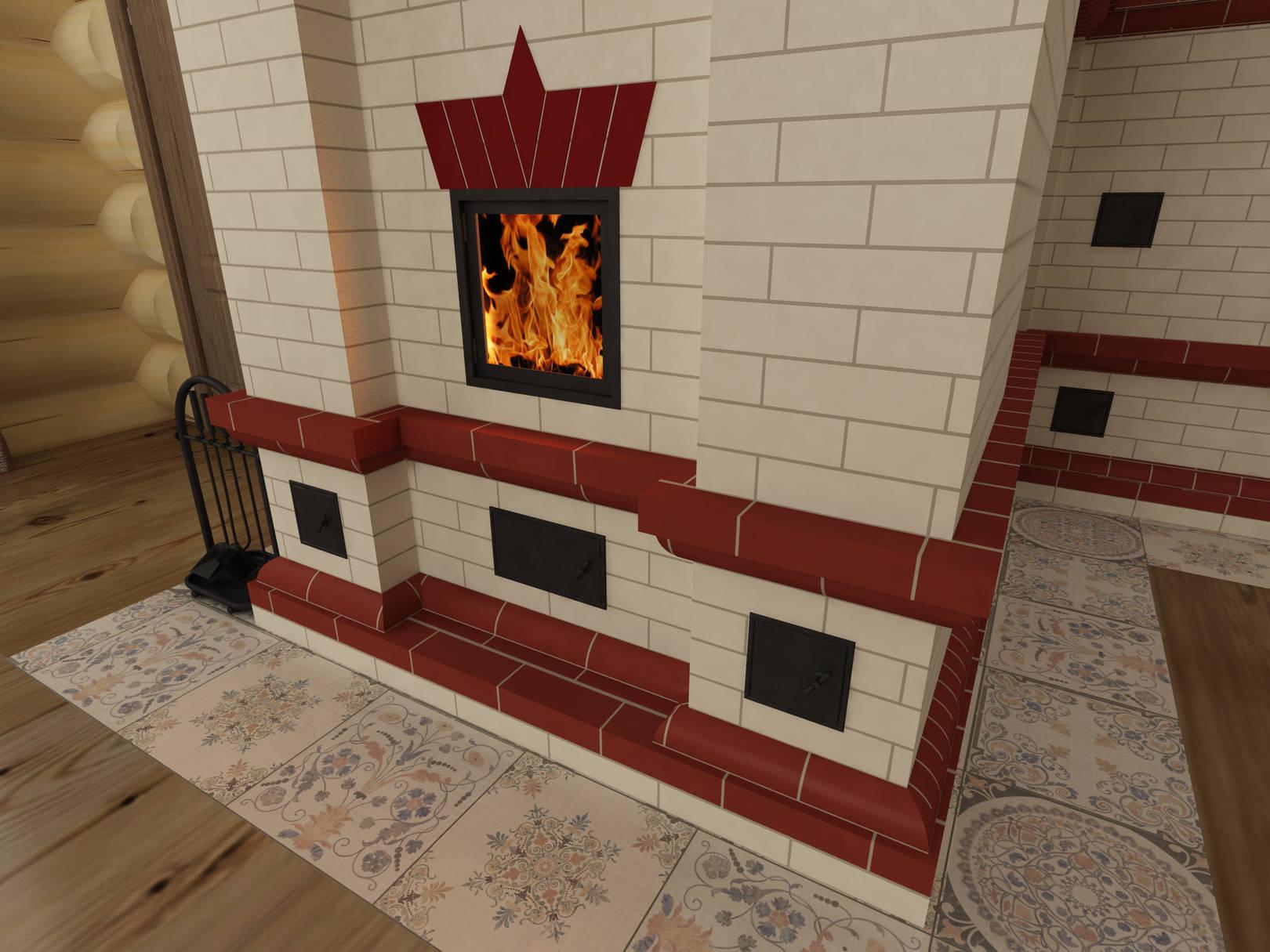 Многофункциональная печь-камин