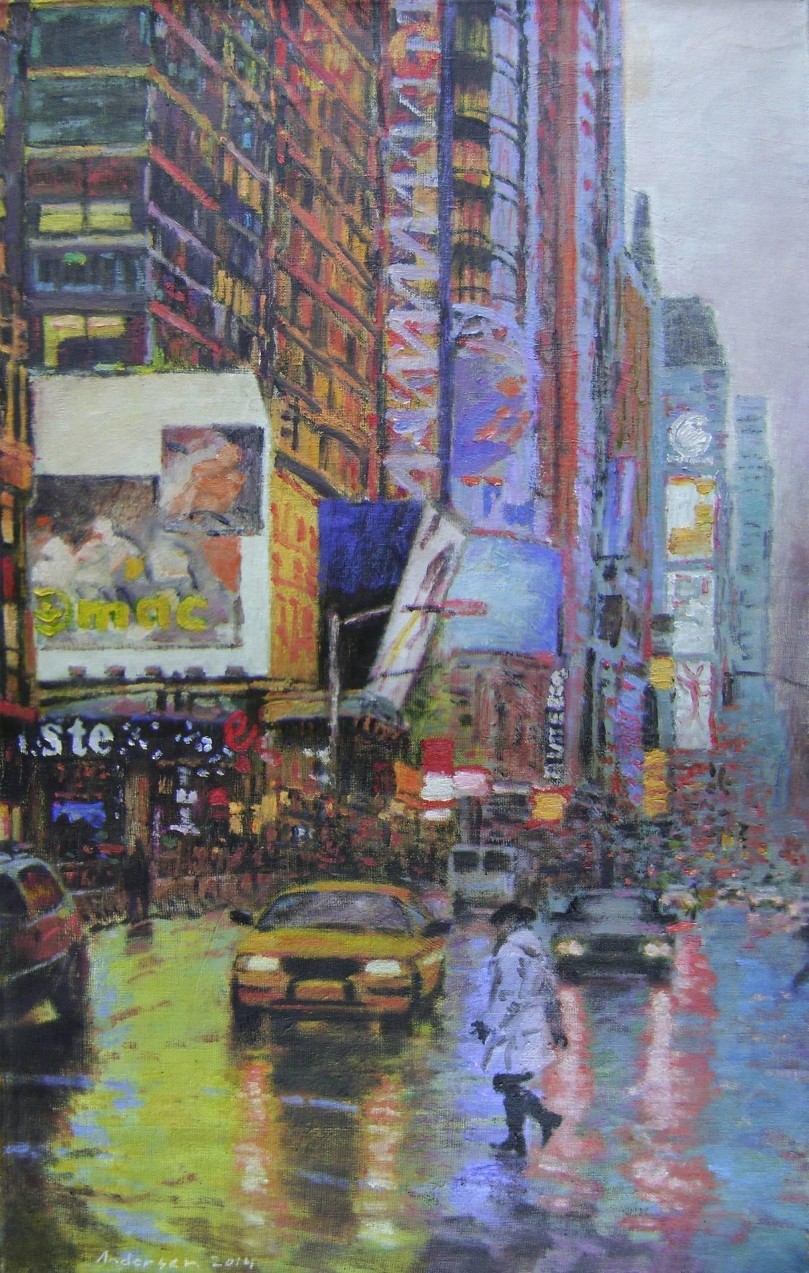"""Raining 16 PM"" 2014, oi/canvas, 80x50 cm"