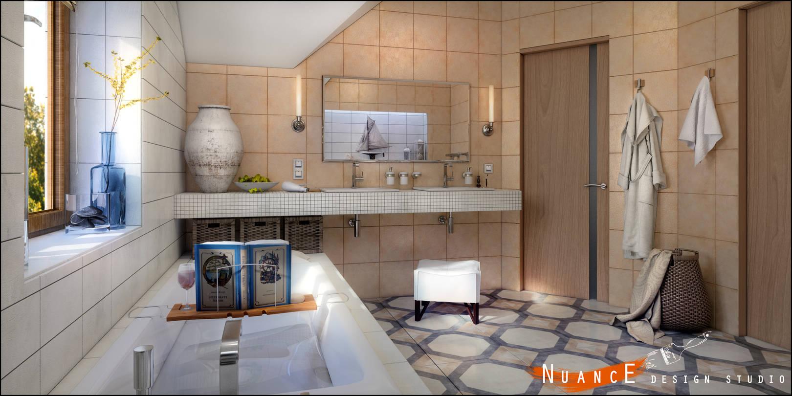 душевая комната в частном доме дизайн фото