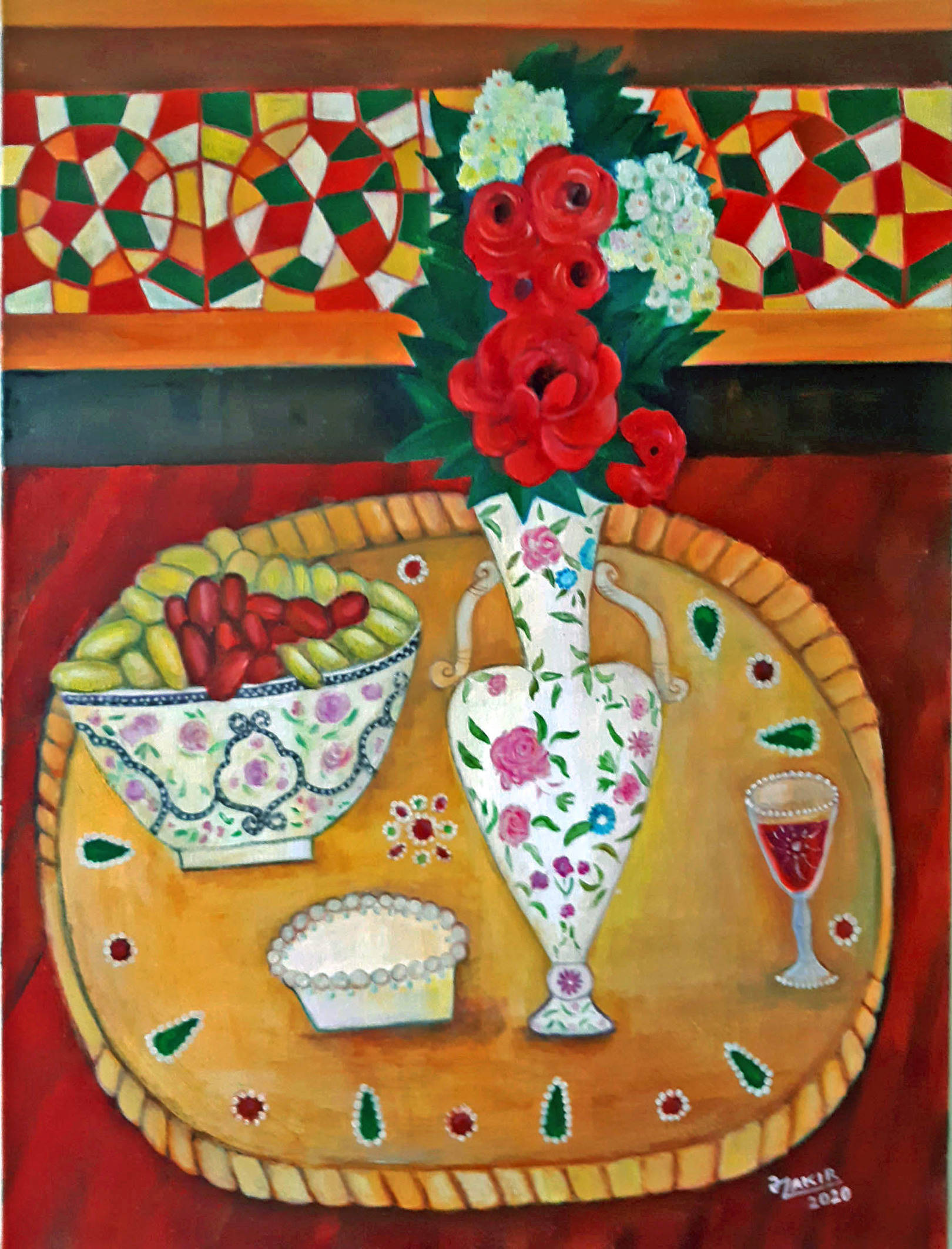 Still life with grapes2020year 80x60cmOriginal Painting Oil on Canvas 8000$