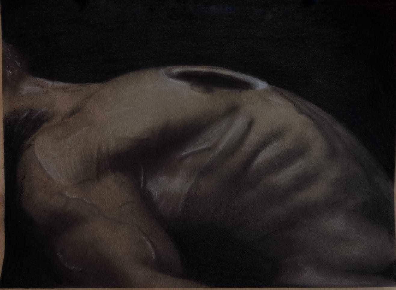 На грани / On an edge Карандаш на крафтовой бумаге / Pencil on a craft paper Изображение иллюстрирует пограничное состояние между болью и удовольствием, между смертью и жизнью. А что видите вы? Очень интересно узнать ваше мнение!