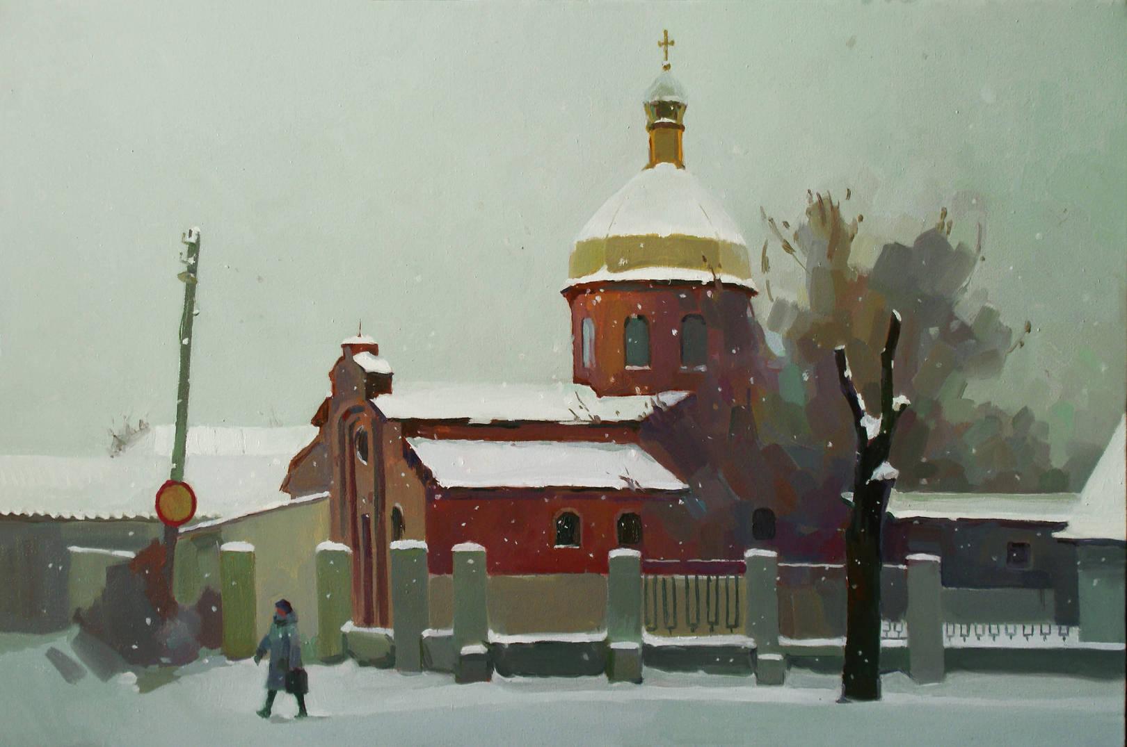 Кривой Рог. Пейзаж с церковью.