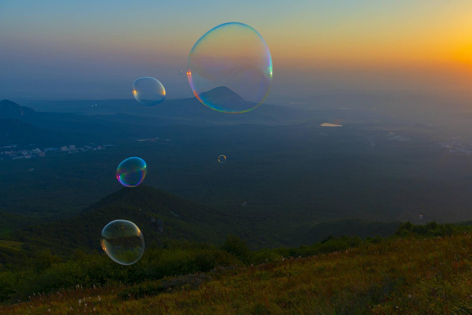 Рассвет и мыльные пузыри