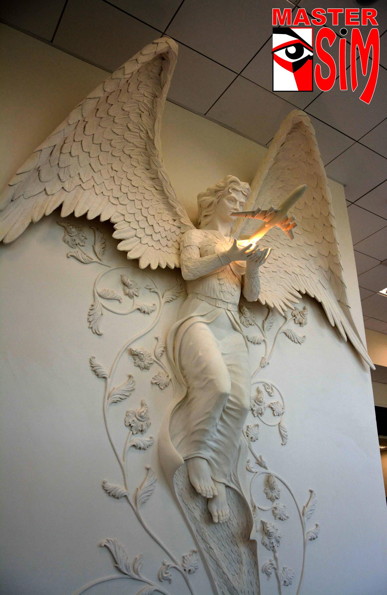 Горельеф Ангел хранитель в Аэронавигации