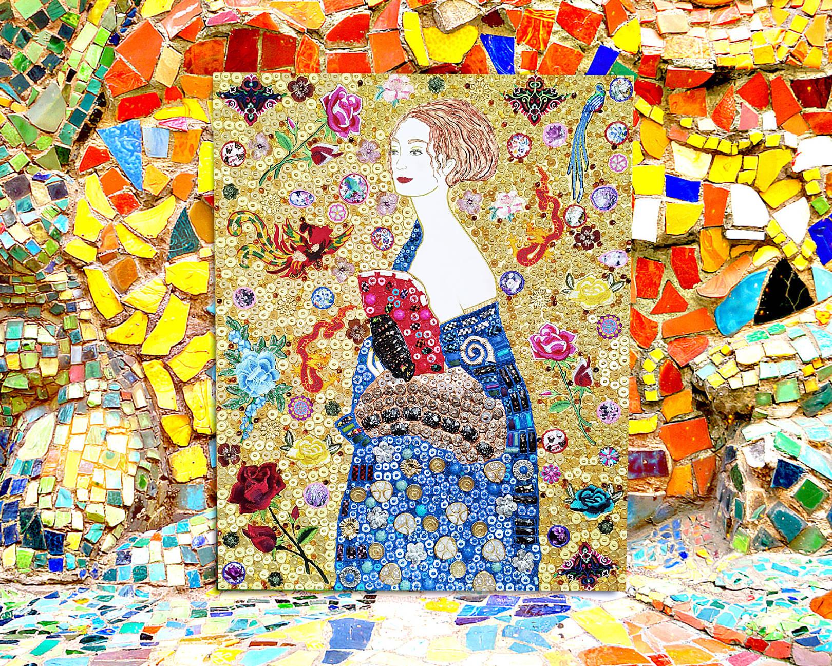 Дама с веером Густав Климт
