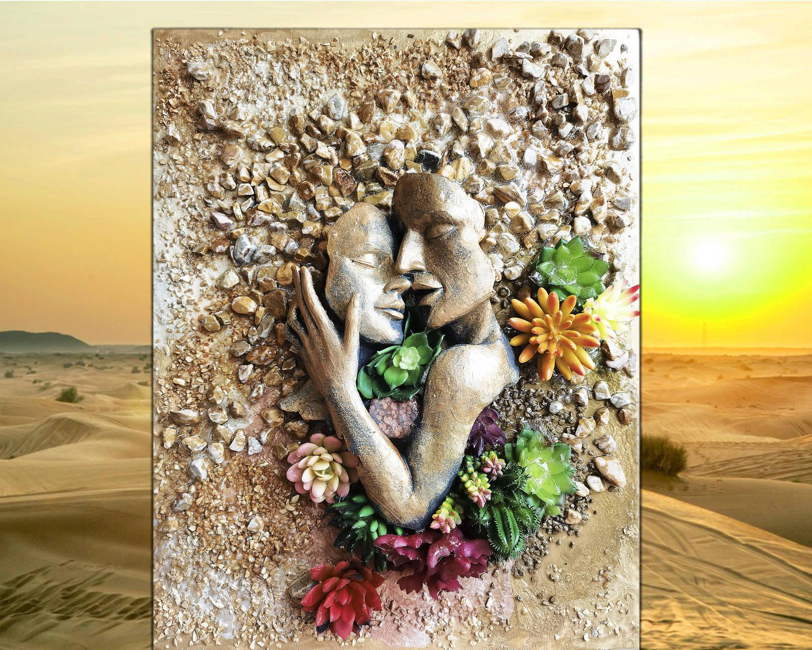 Пустыня - скульптурная картина