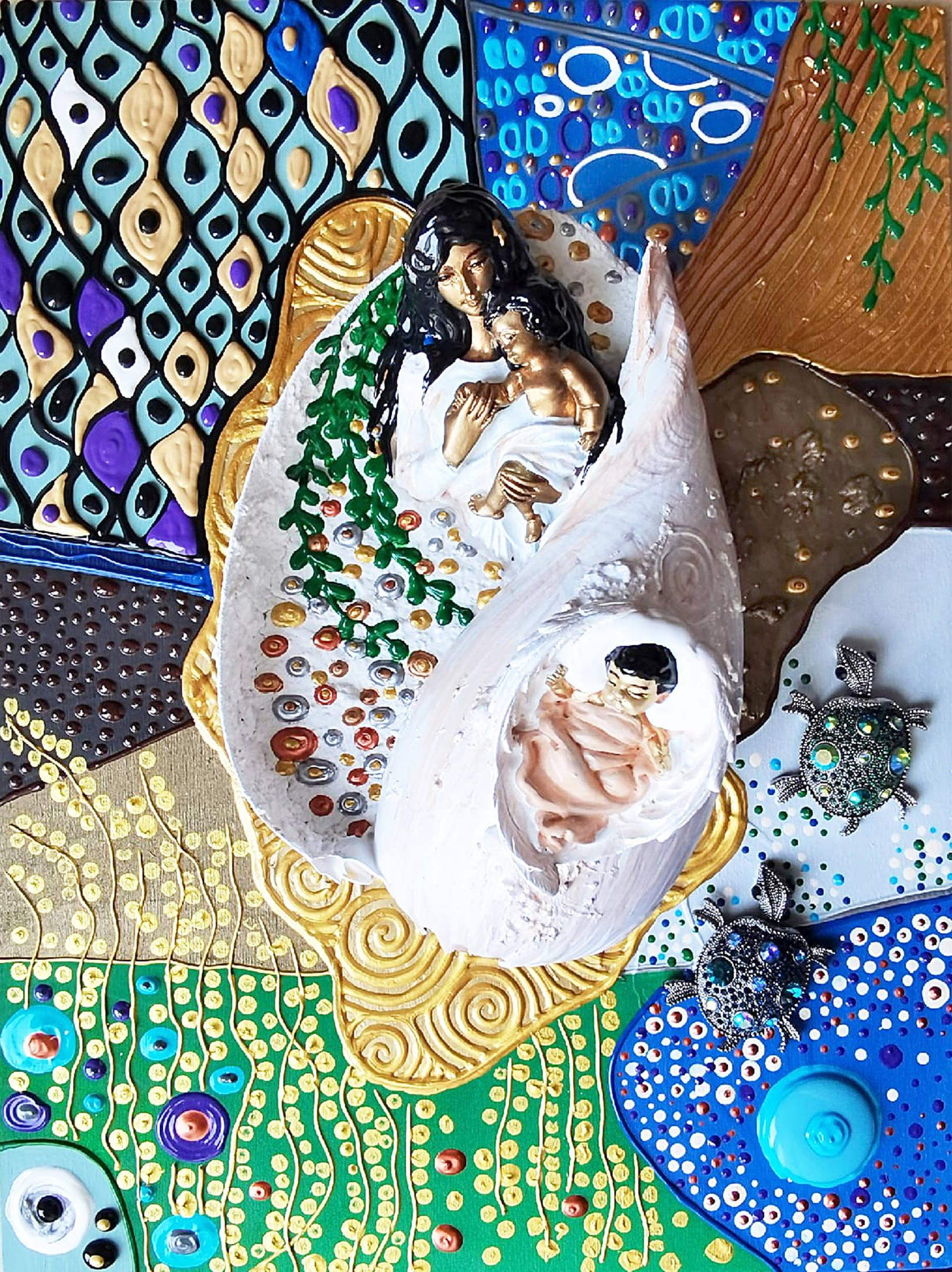 Акрил, деревянная панель, декоративные элементы, гипс, металл, пластик, акриловая и деревянная мозаика