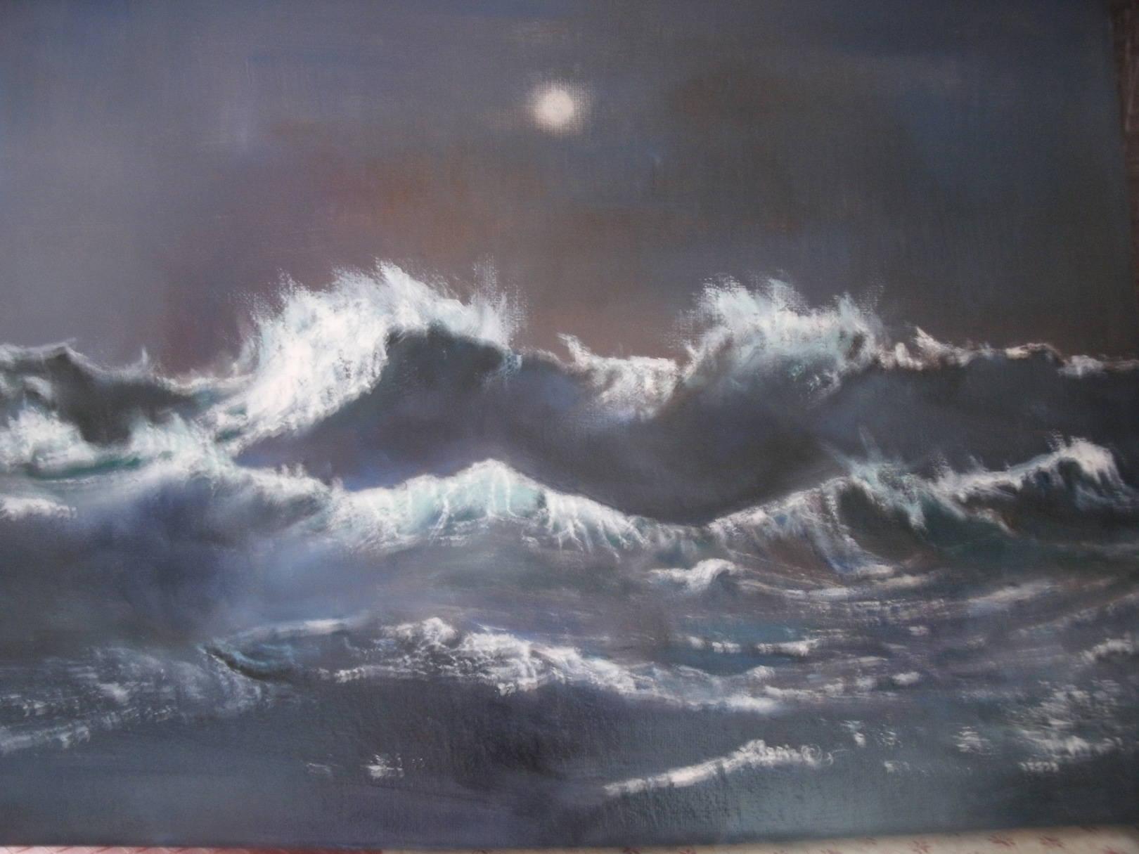 Stormy Sea At Midnight