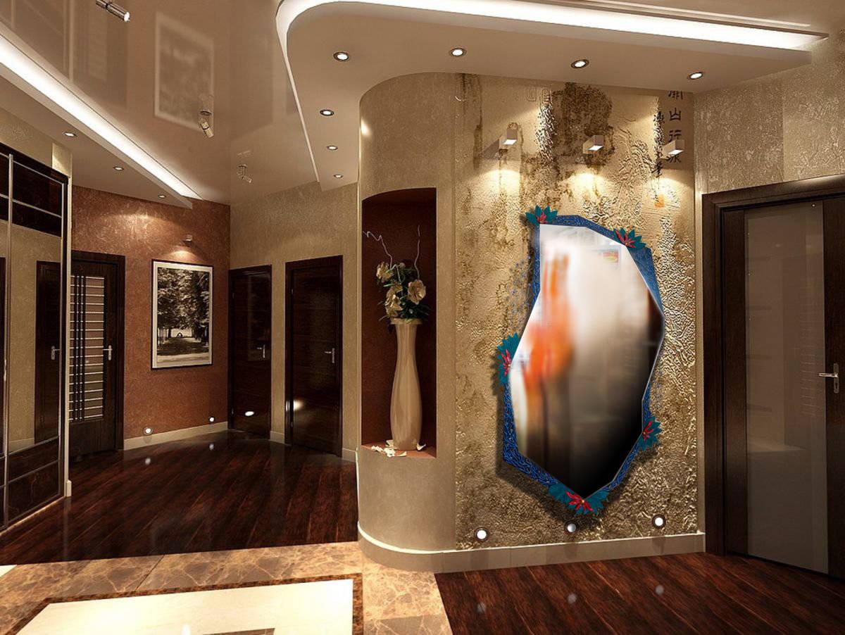 зеркало «Цветы на камнях» Размер: 1630 х 870 мм. Смешанная техника. Так зеркало выглядит в интерьере. (фото-эскиз интерьера взят в интернете, в свободном доступе)