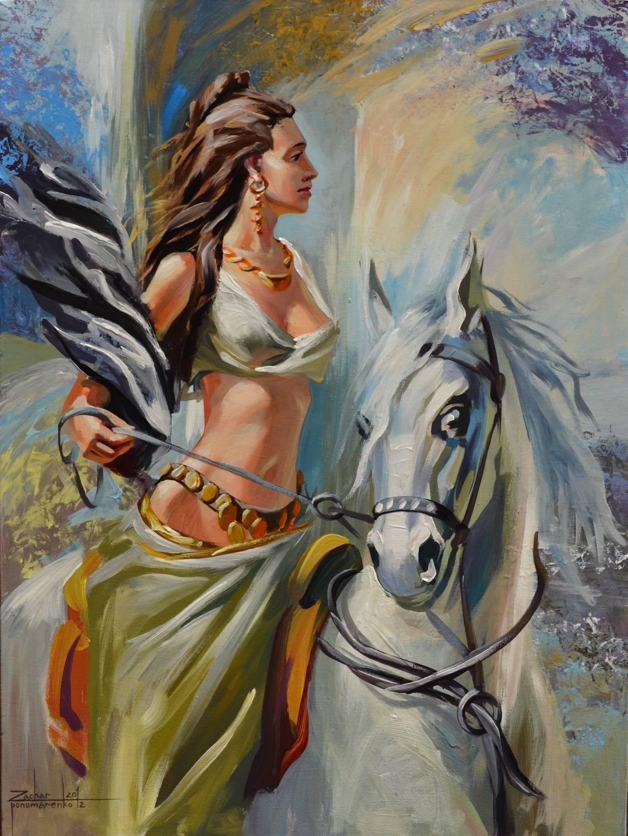 девушки и лошади