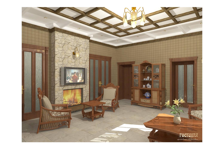 дизайн-проект интерьеров загородного дома