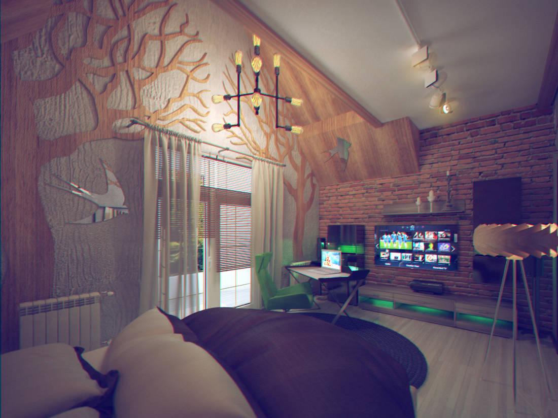 """дизайн спальни """"лофт"""""""