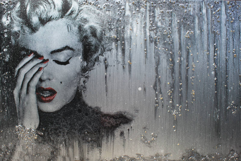 "Art-panel ""Silver Marilyn"""