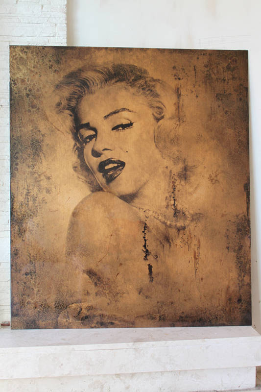 "Art-panel ""Gold Marilyn"""