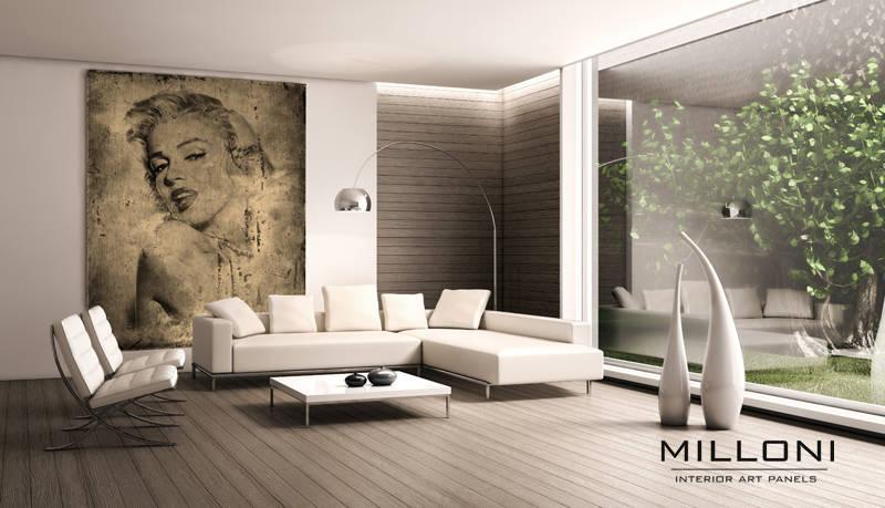 "Art-panel ""Gold Marilyn"""
