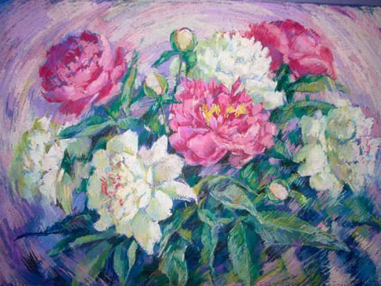 Цветы пастелью
