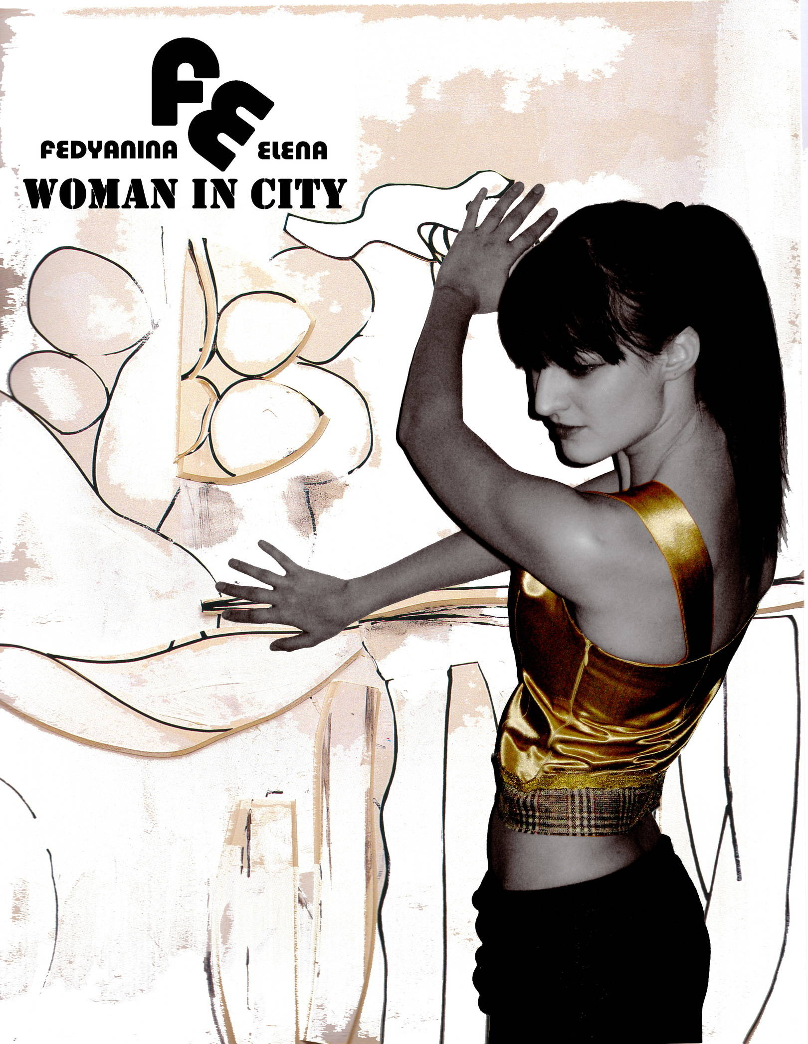 woman in city