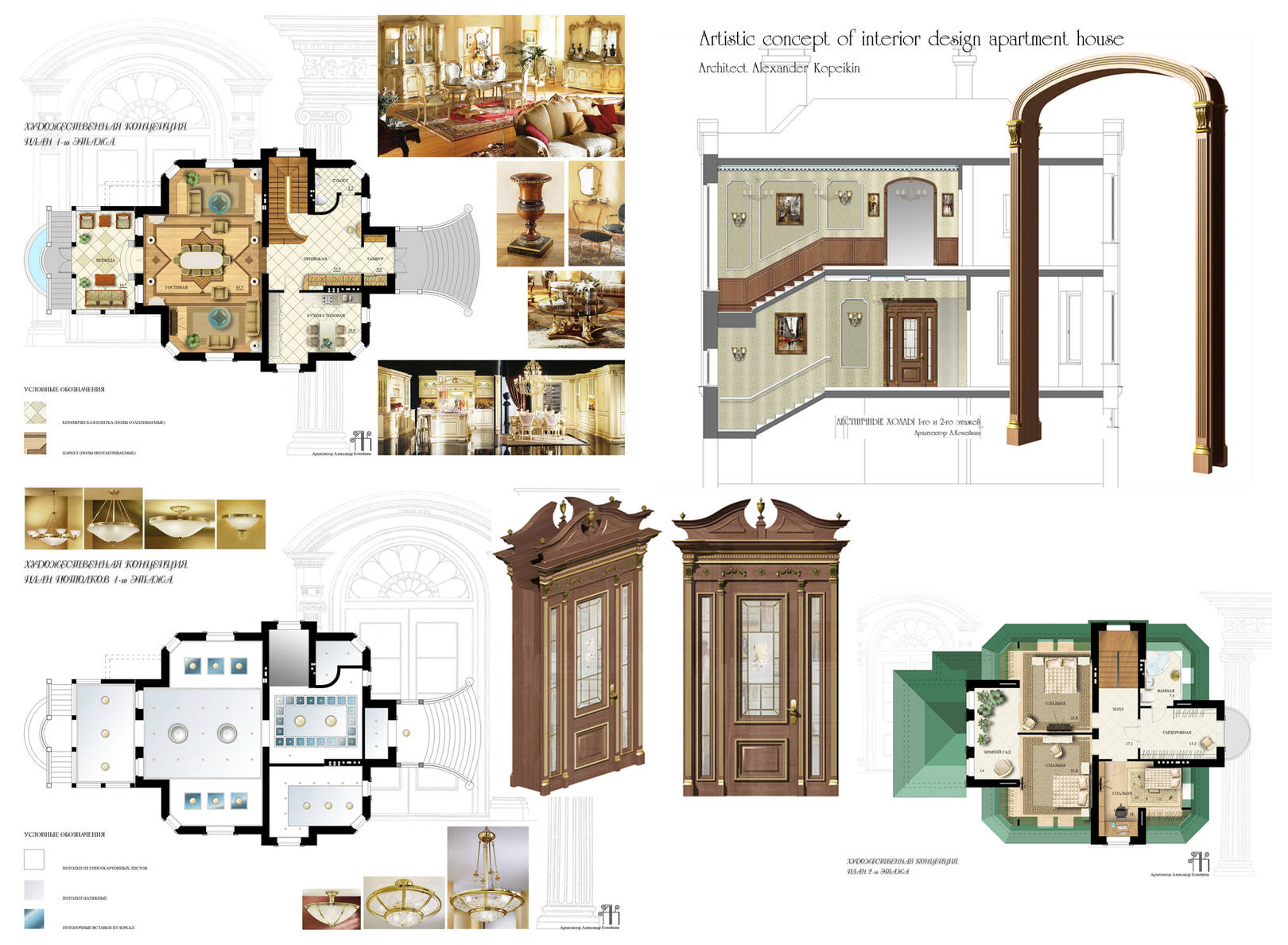 Interior design-projects in the cottage