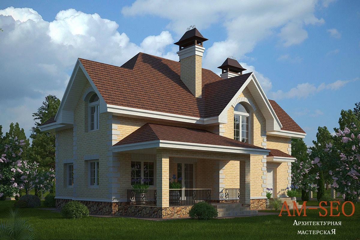 Проект загородного дома 200кв.м