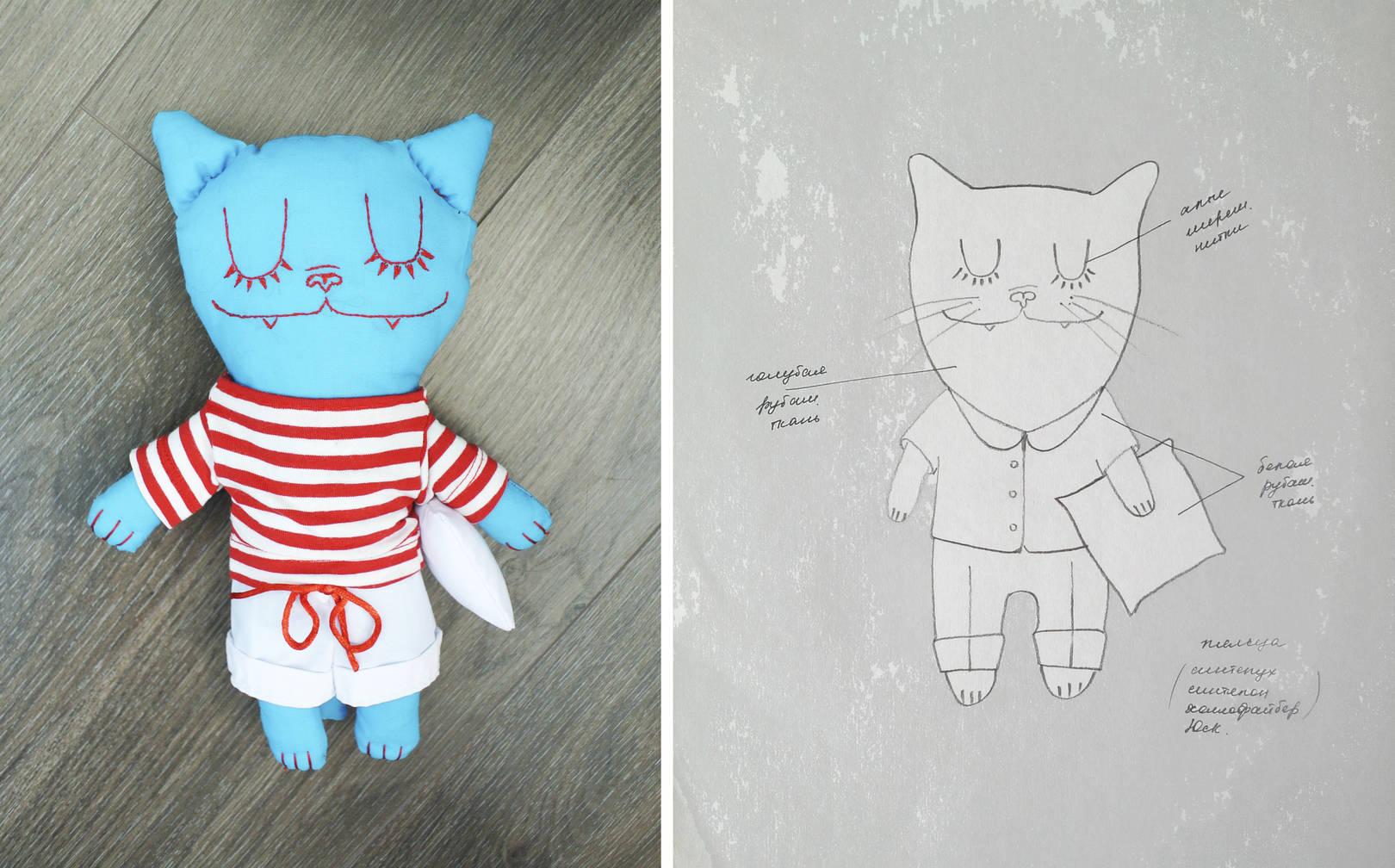 Бирюзовый кот и его подружка