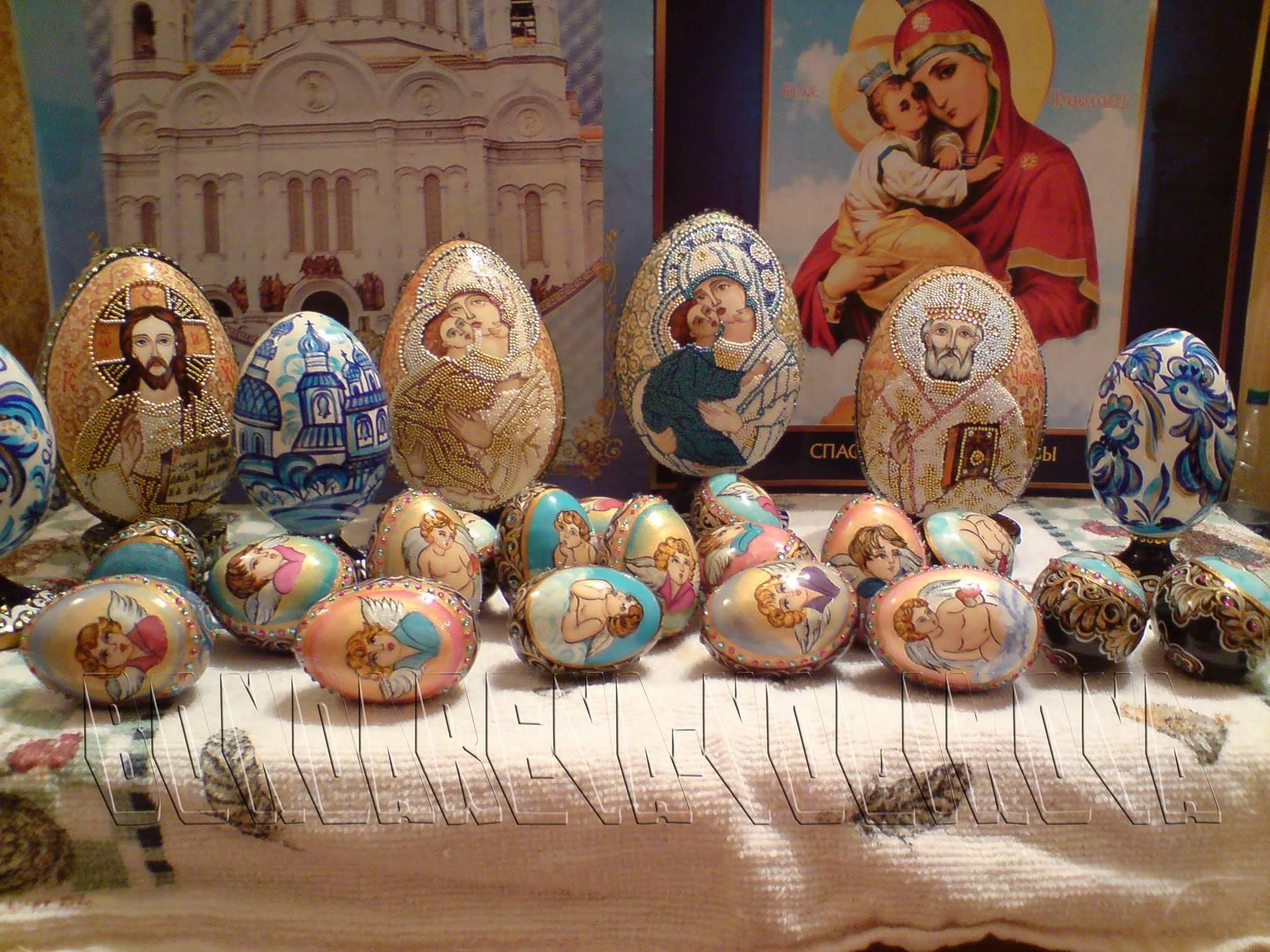 Painting of eggs-Роспись яиц