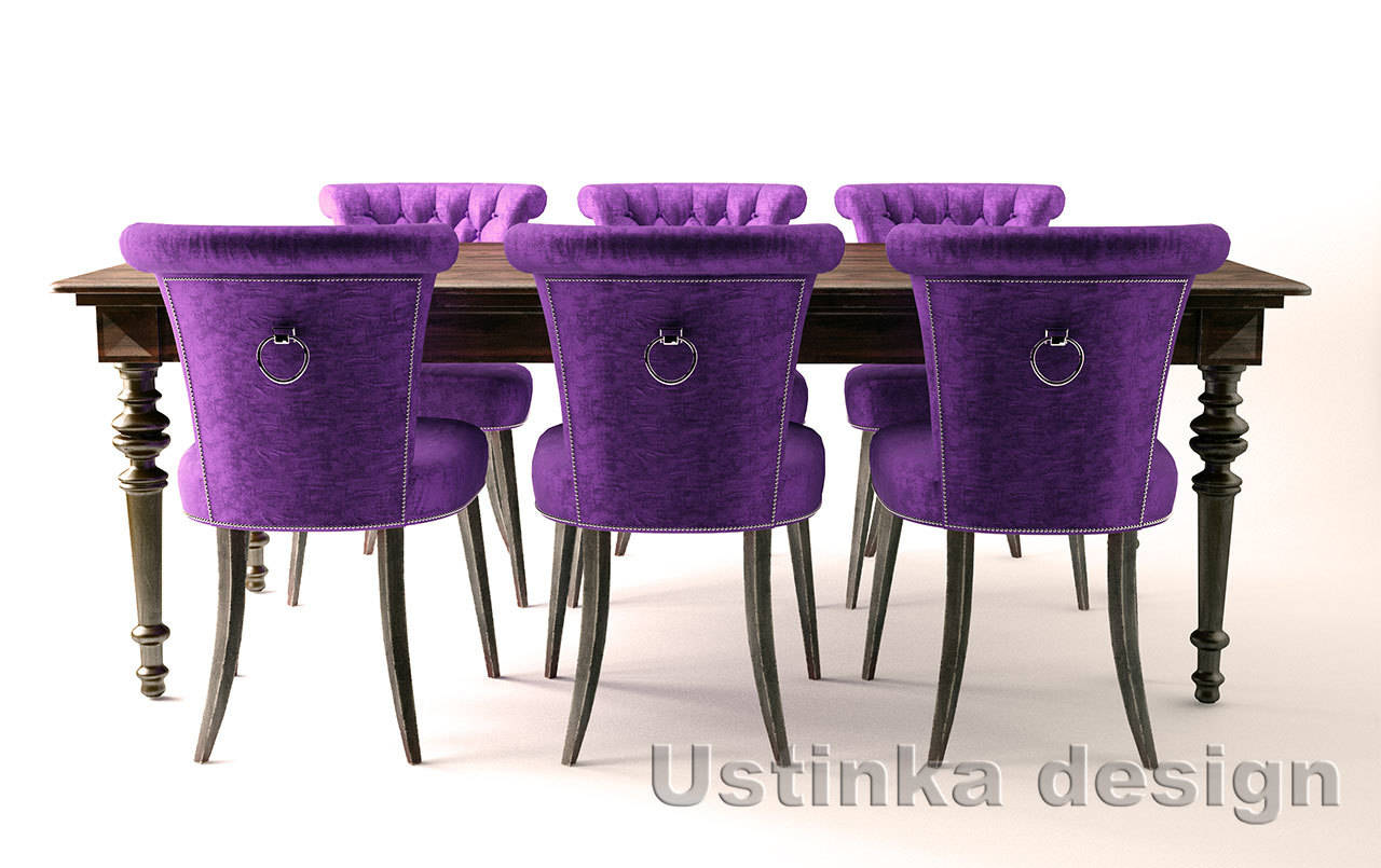 Dining room table/chairs (3d models)
