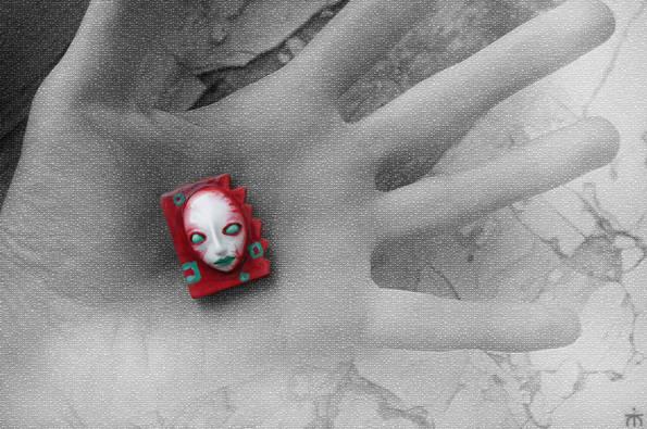 """брошки - """"портрет куклы"""""""