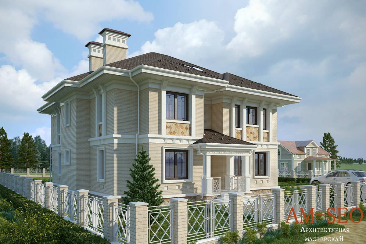 Проект загородного дома в Подольском районе Московской oбласти