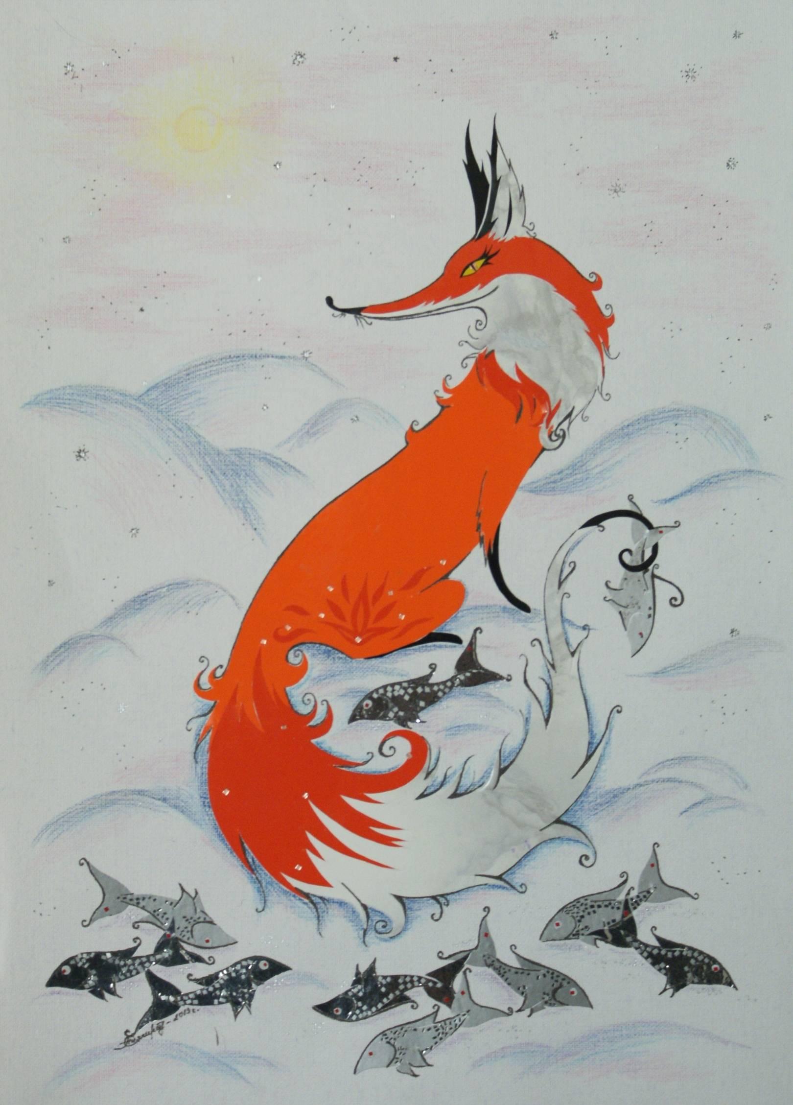 """Applique """"Russian folk tales and myths"""" (Аппликация """"Русские народные сказки и мифы"""")"""