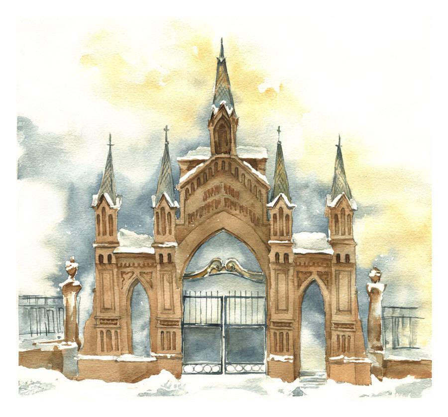 Architecture in watercolor 2013