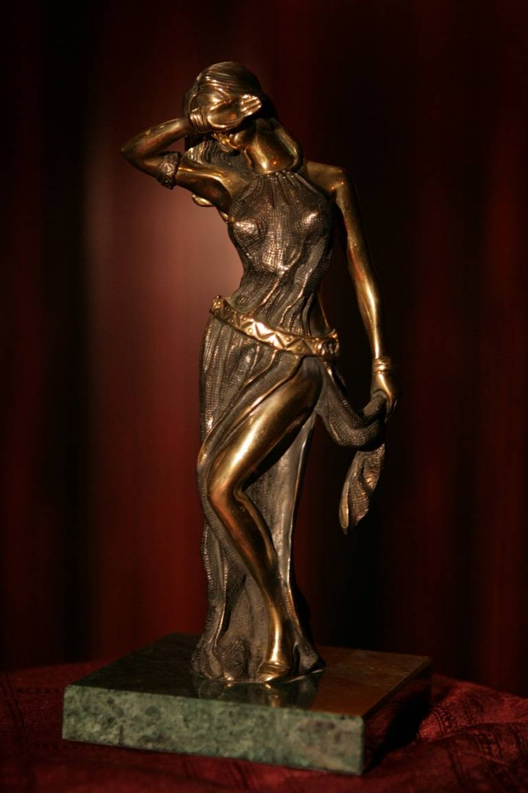 bronze and porcelain sculpture