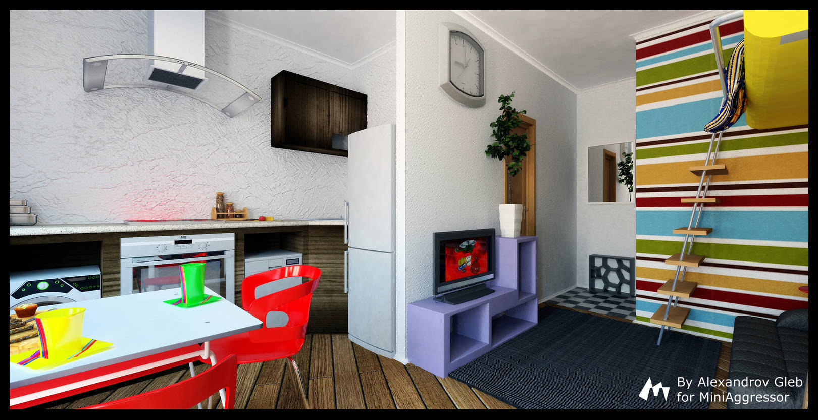 Интерьер квартиры-студии (22.4 м2)