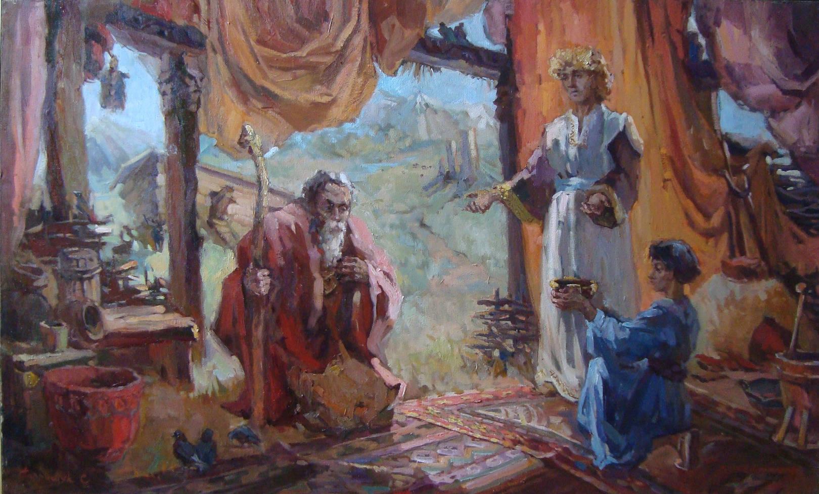 Easel paintings