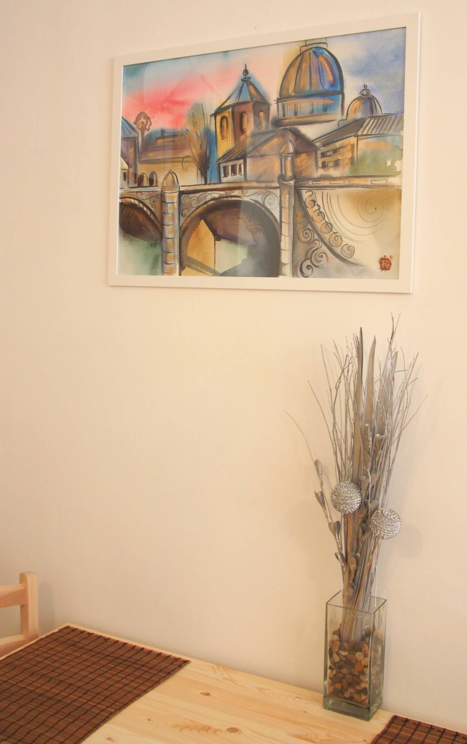 Watercolour. Home decoration