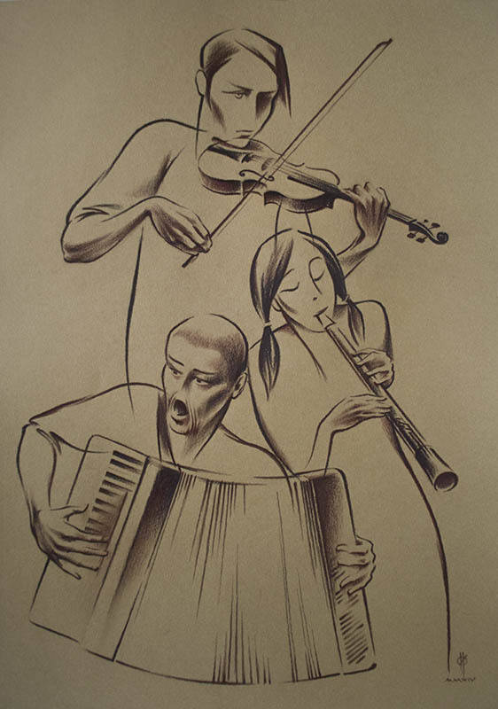 """Not only JAZZ"" paper,sepia 50x35 2014"