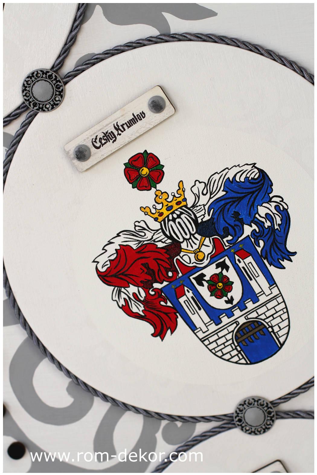 """Часы """"Чехия"""", диаметр 110 см, ручная роспись."""