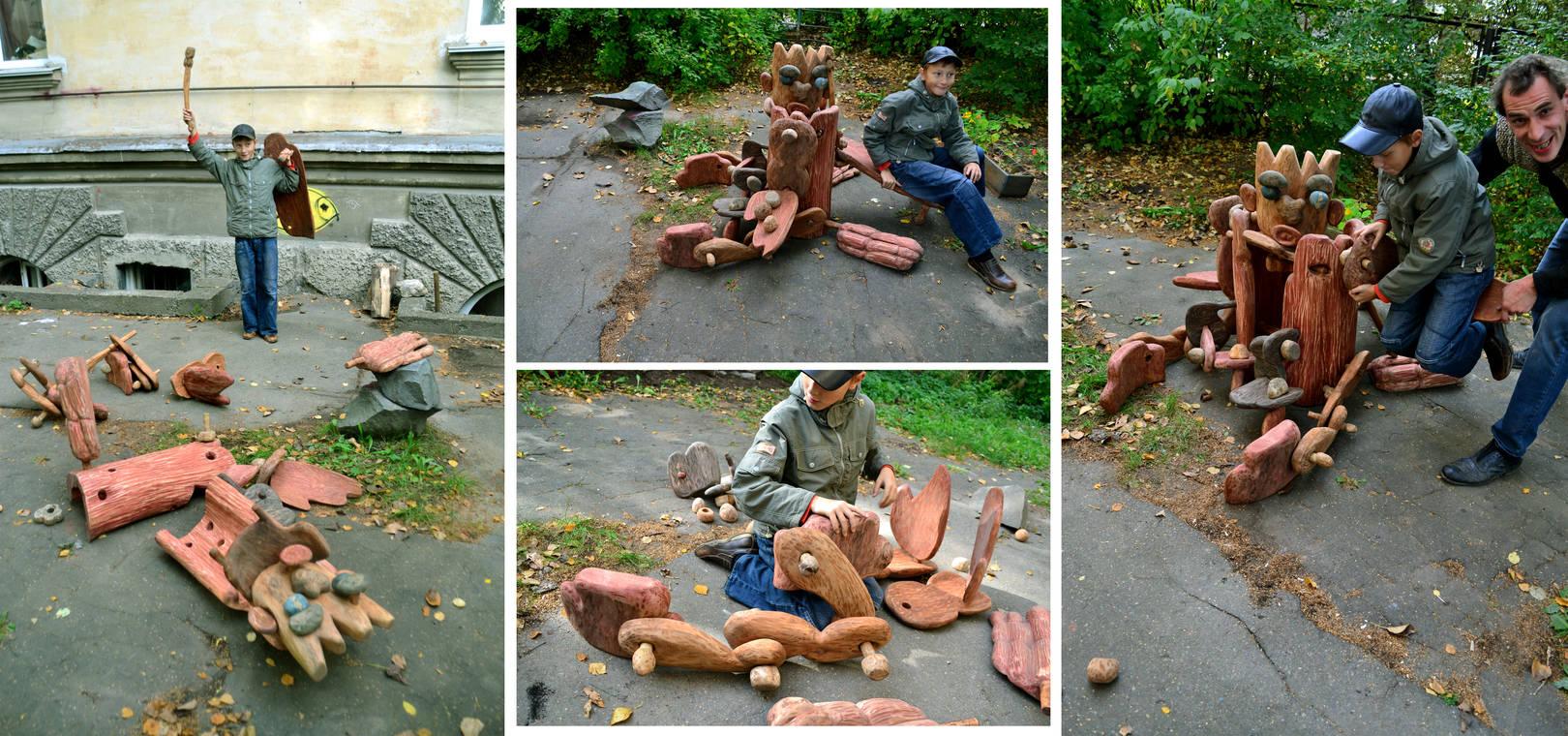 """детская скульптура-площадка """"Вилли Винки"""""""