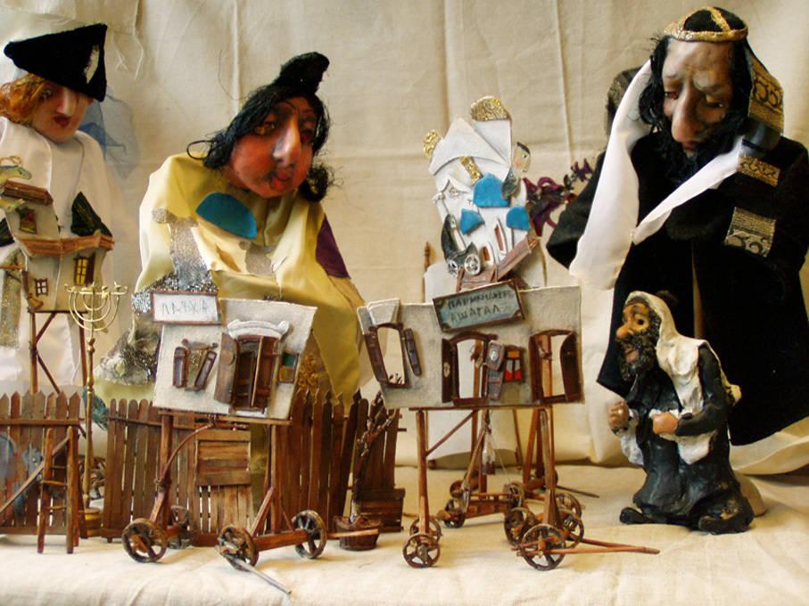 """куклы для спектакля """"Еврейское счастье или страсти местечка"""""""