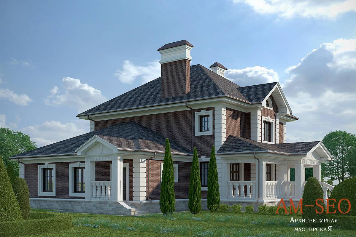 Проект загородного дома в английском стиле 270 кв.м