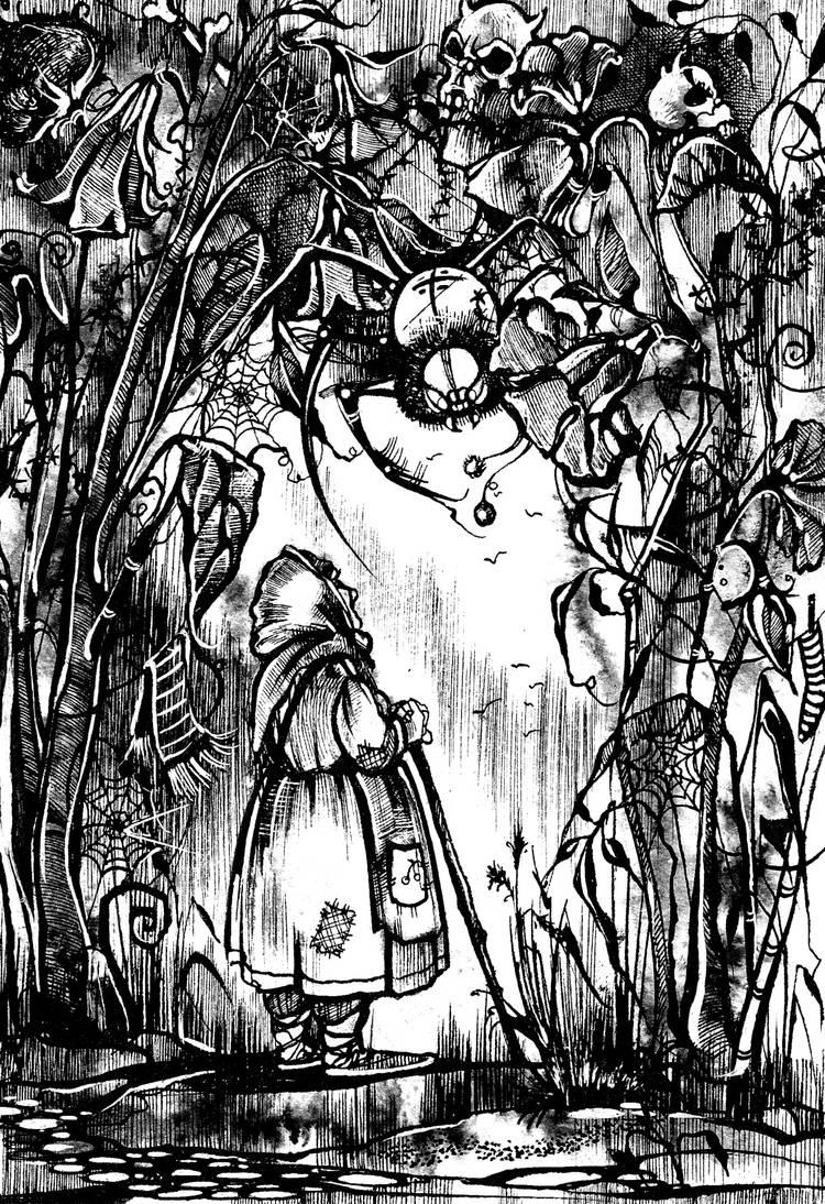 Маленькая старушка. Иллюстрация к книге рассказов А.Краузе.