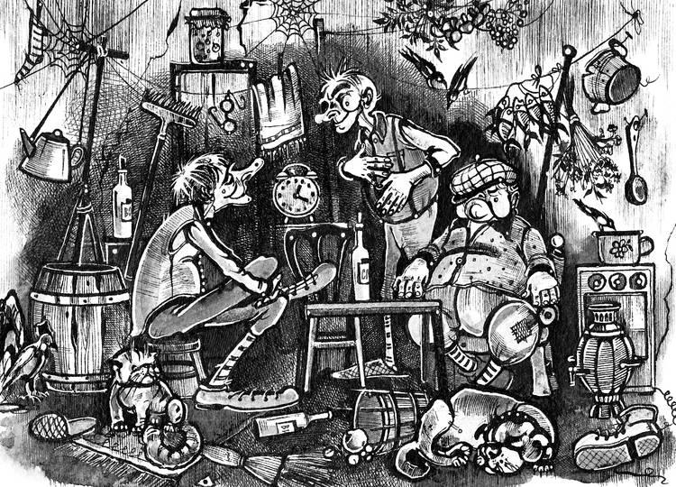 Иллюстрация к книге рассказов А.Краузе.