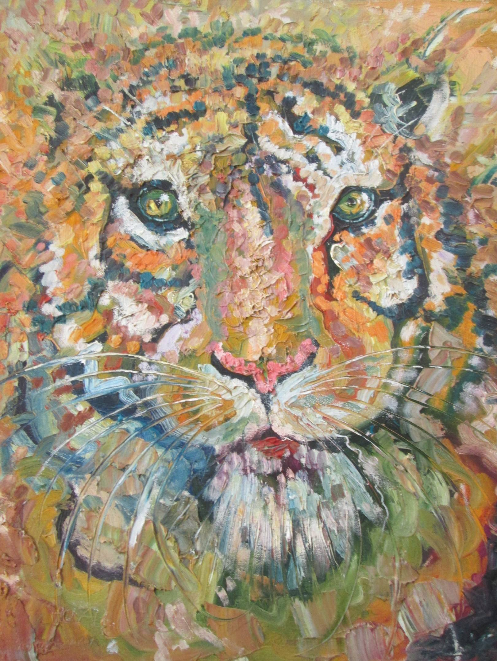 Тигр. Живопись.