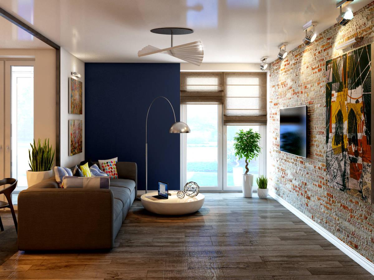 Квартира с элементами лофта