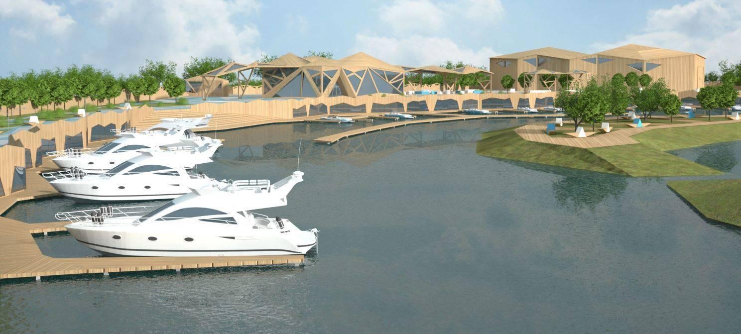 Организация средового комплекса марины (яхтенного порта)